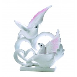 Couple de colombe 14 cm