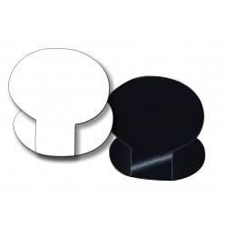 Etiquette ovaline Noir ou Blanche