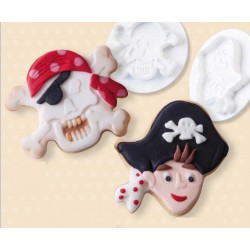 """Découpoir + poussoir """"Pirate"""""""