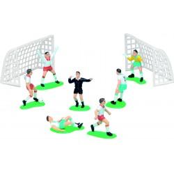 Joueurs de football + cages