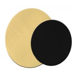 Support à gateau Rond or/noir (x 5)