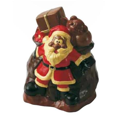 """Moule choco """"Père Noël et sa hotte"""""""