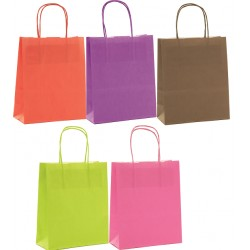 Sacs cabas kraft couleur PM ou GM