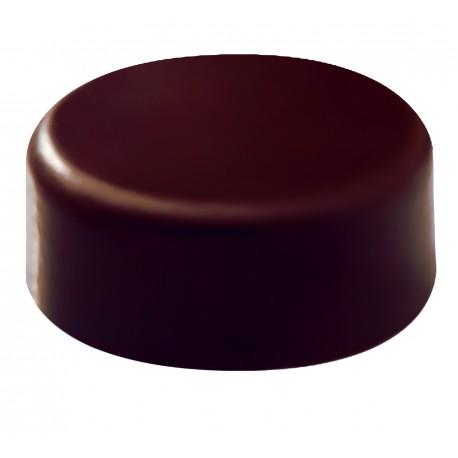 Plaque chocolat bonbons rond lisse