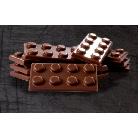 """Plaque chocolat bonbons """"légo"""""""