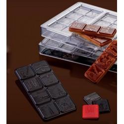 """Plaque chocolat bonbon """"ville"""""""
