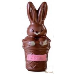 Moule chocolat Lapin panier