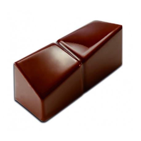 Plaque chocolat bonbons rectangle design