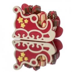 Moule chocolat souple traîneau du Père Noël