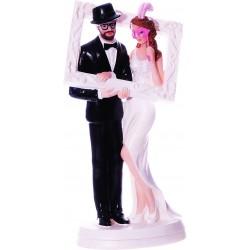 Figurine de mariage cadre- 18 cm
