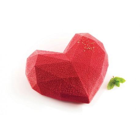 Moule coeur origami de Silikomart