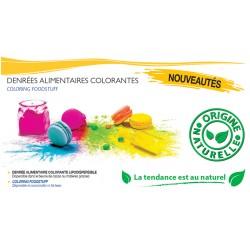 Colorant en poudre lipodispersible Naturel alimentaire