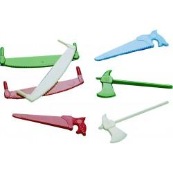 Petits outils assortis scies et haches
