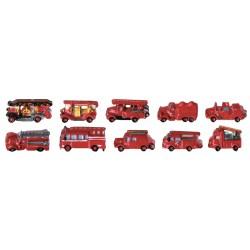 Fèves anciens véhicules du feu - lot de 2