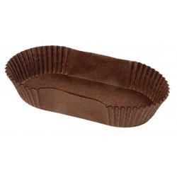 Caissettes Calypso fond brun oval