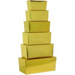 Ballotin / boite à chocolat , or, moka ou blanc - Taille 125gr 250gr 300gr