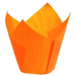 Caissette papier Tulipcup orange