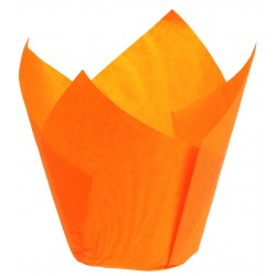 Caissette papier Tulipcup orange
