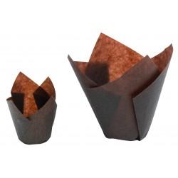 Caissette papier brune Tulipcup