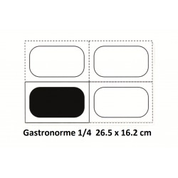 Boite + couvercle 1/4 26.5 x 16.2 cm