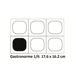 Boite + couvercle 1/6 17.6 x 16.2 cm
