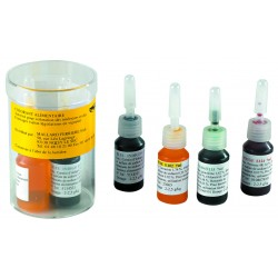 Boite de 4 colorants liquides